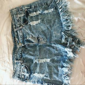 Distressed Jean Shorts