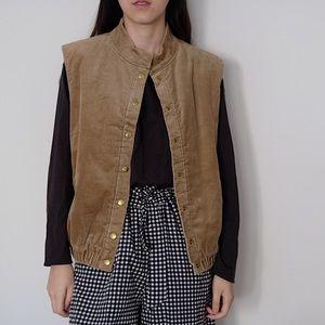 Camel Corduroy vest jacket