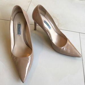 Prada Shiny Patent Leather Pumps