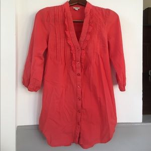 EUC- 3/4 sleeve soft strawberry red Odille blouse