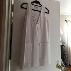 Lace front dress