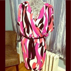 Asymmetric matte jersey dress