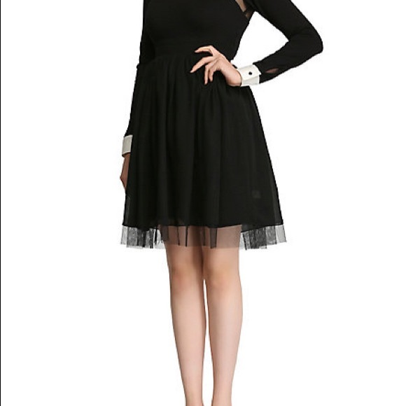 Black dress with white collar ukc
