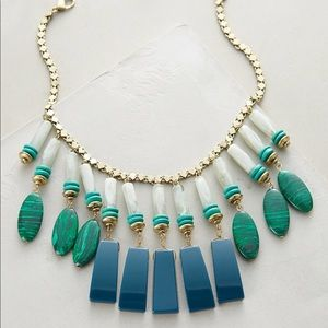 Anthropologie equatorial fringed bib necklace