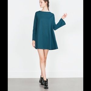 Zara mini dress teal