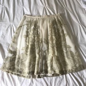 Anthropologie Carnation Lily Lily Rose skirt