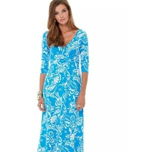 Lilly Pulitzer Gloria Tide Pools Maxi Size XS