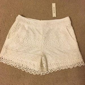 White Shorts Size Large