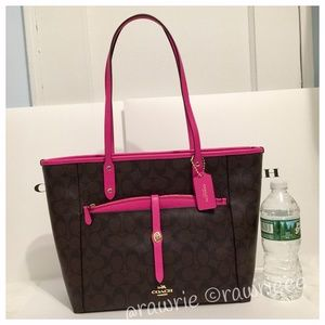 New Coach Signature zip top city tote with Pouch