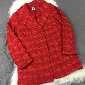 Tweed Blounce Cabi Sloan Red & Pink Coat