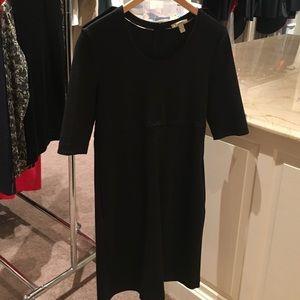 Black knit Burberry sweater dress
