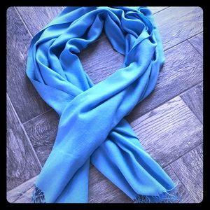 Beautiful blue wrap/pashmina/scarf with tassels