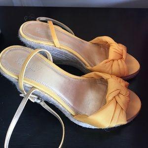 Criss cross ankle strap espadrilles