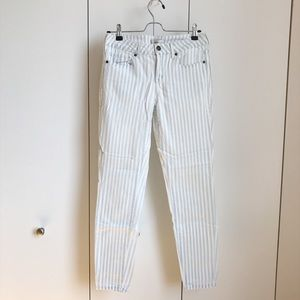 Forever21 Striped Jeans