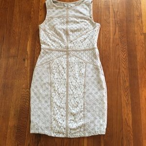 Maggy London white lace dress