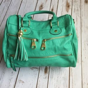 - Steve Madden - Sea Blue purse with gold zippers