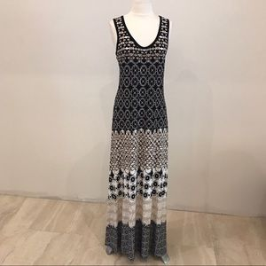 Calvin Klein Print Detail Maxi Dress