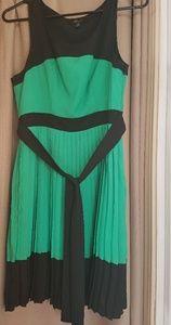 Monteau Pleated Dress