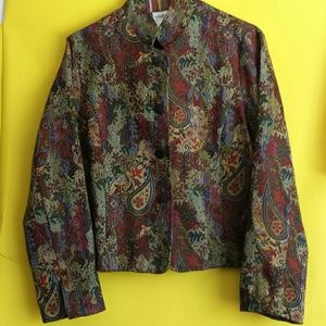 NWOT Coldwater Creek Tapestry Jacket Size Large