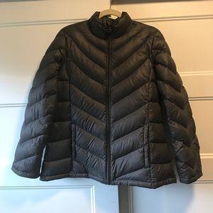 Grey Calvin Klein Puffer Coat