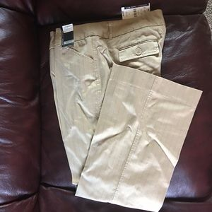 New York & Company Tan Pinstriped Pants