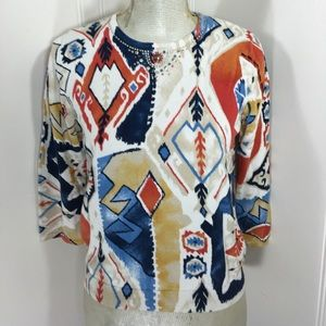 All Items 3for$15! Light Beaded Tribal Sweater