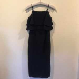 New Maggy London navy tiered cocktail dress