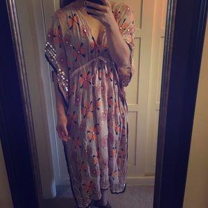 Dresses & Skirts - Embellished Caftan Dress OS