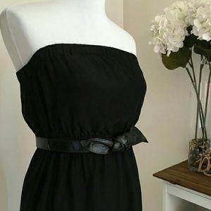 Barneys New York: 100% Silk Belted Dress