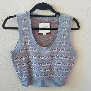 NEW American Eagle Wool Cropped Gray Sweater Vest