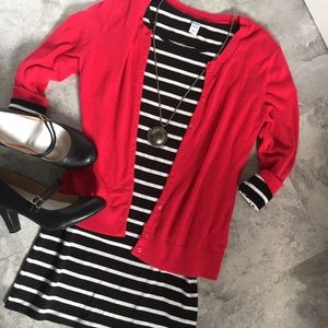 Black & White Jersey Bodycon Dress from Old Navy