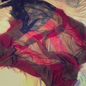 Free people American flag scarf