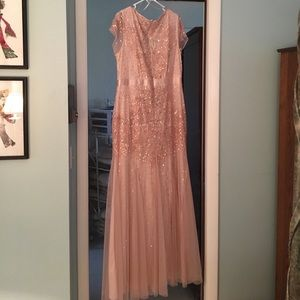 Beautiful rose gold gown