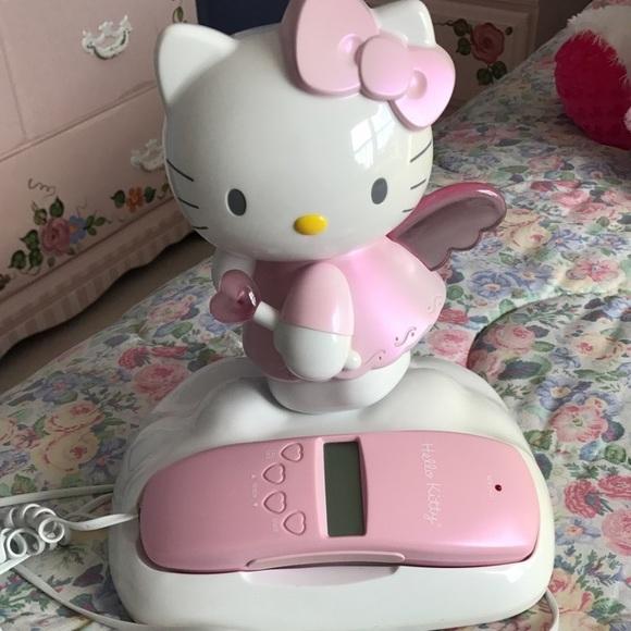3473bafd5 Other | Vintage Sanrio Hello Kitty Angel Phone | Poshmark