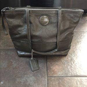 Coach Silver Tote Bag
