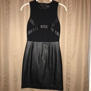 Armani Exchange Mini Faux Leather Dress