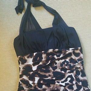 Stunning Cheetah Print Halter Dress.