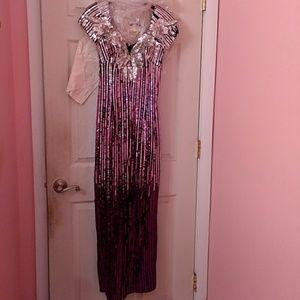 Formal Wear Pink n Black Sequin EUC