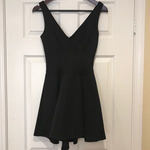 Deep double v neck dress.