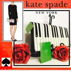 New KATE SPADE New York Duet Piano Key Clutch