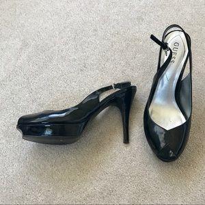 Sling-back peep toe Guess heels