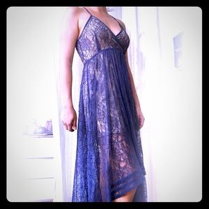 Kimchi Blue/UO High Low, Open Back Lace Dress