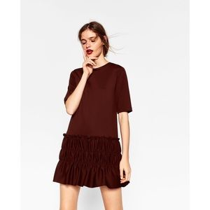 Zara Gathered Hem Dress