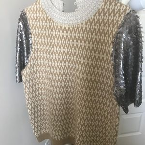 J. crew sweater top with sequins!
