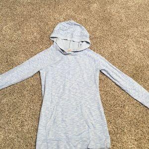 Light blue mission sweater.