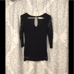 Stitchfix black lace top