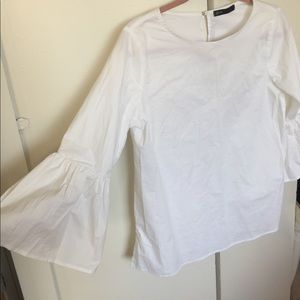 White Blouse with Bell Sleeves- size small