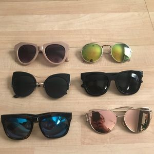 Lot of sunglasses