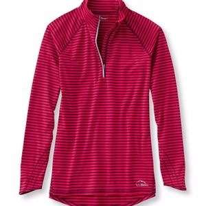 L. L. Bean Trail Tech Quarter Zip Stripe