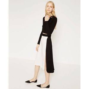 Zara faux wrap skirt